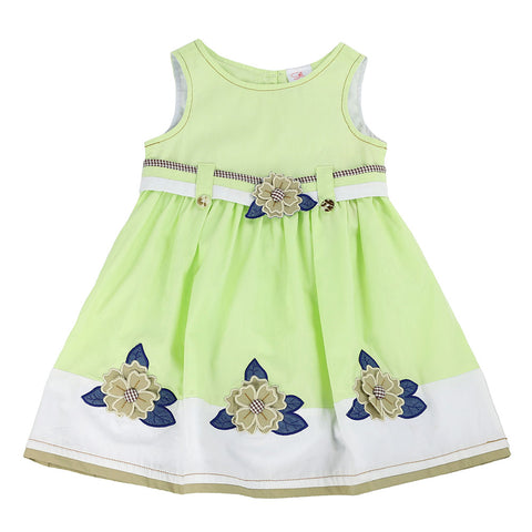 BEATRICE BARNE'S BLOSSOMS DRESS- LIME CAKE GREEN