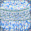 JANE EVER SMOCKING Dress- BLUE MINI FLORAL