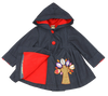 ROXY'S FOXY APPLIQUE JACKET- BLUE DENIM & RED