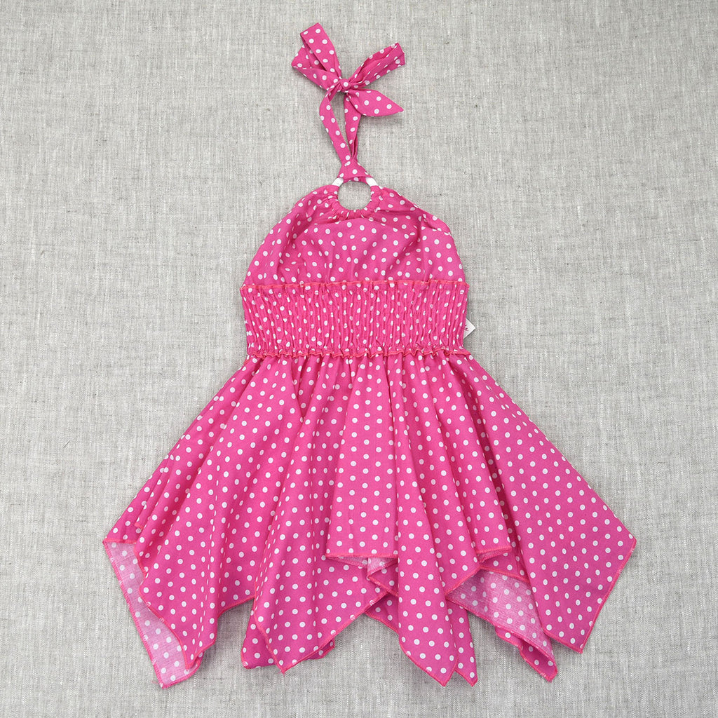 LITTLE MISS Dress- Pink Polka Dot