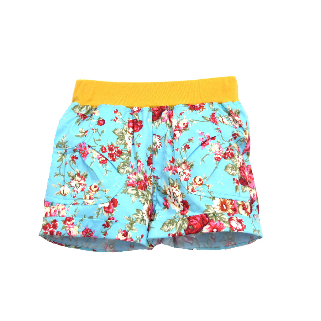 SANDS & BEACH SHORT- YELLOW FLORAL PRINT