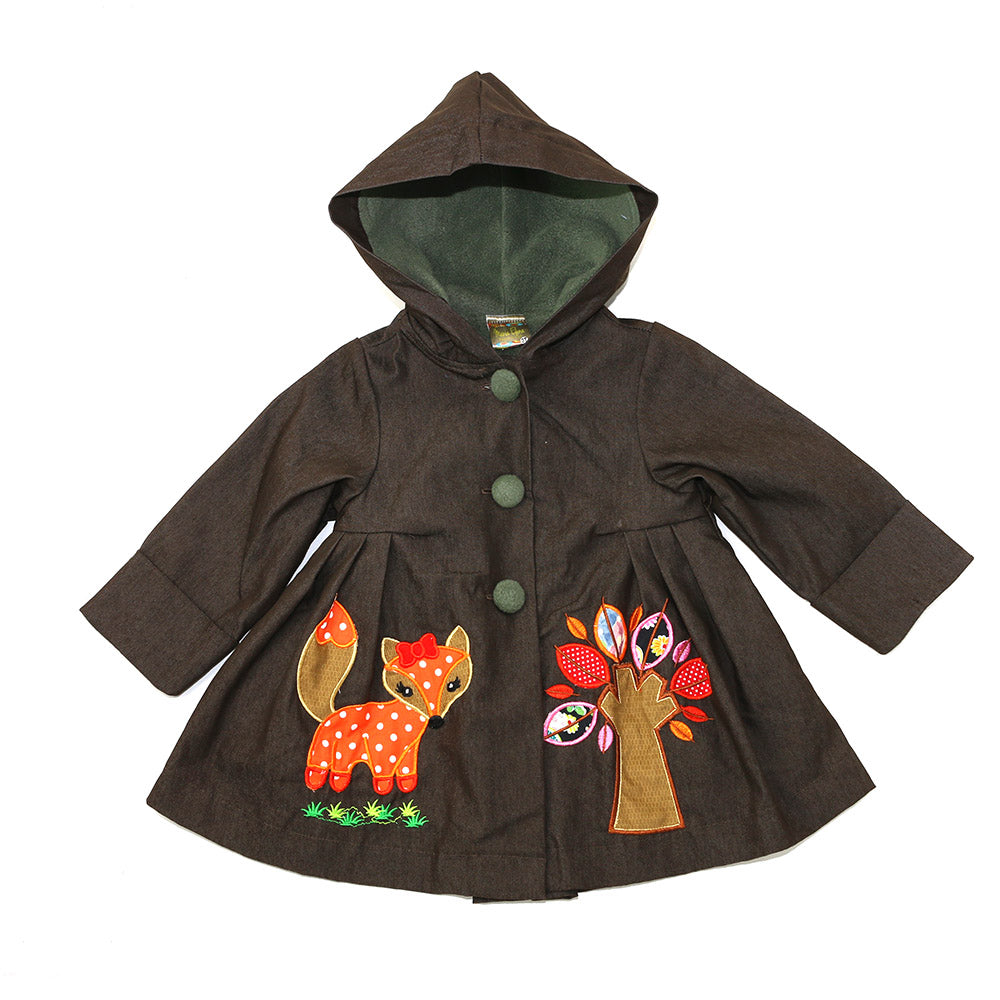 ROXY'S FOXY APPLIQUE JACKET-ENGLISH CHESTNUT