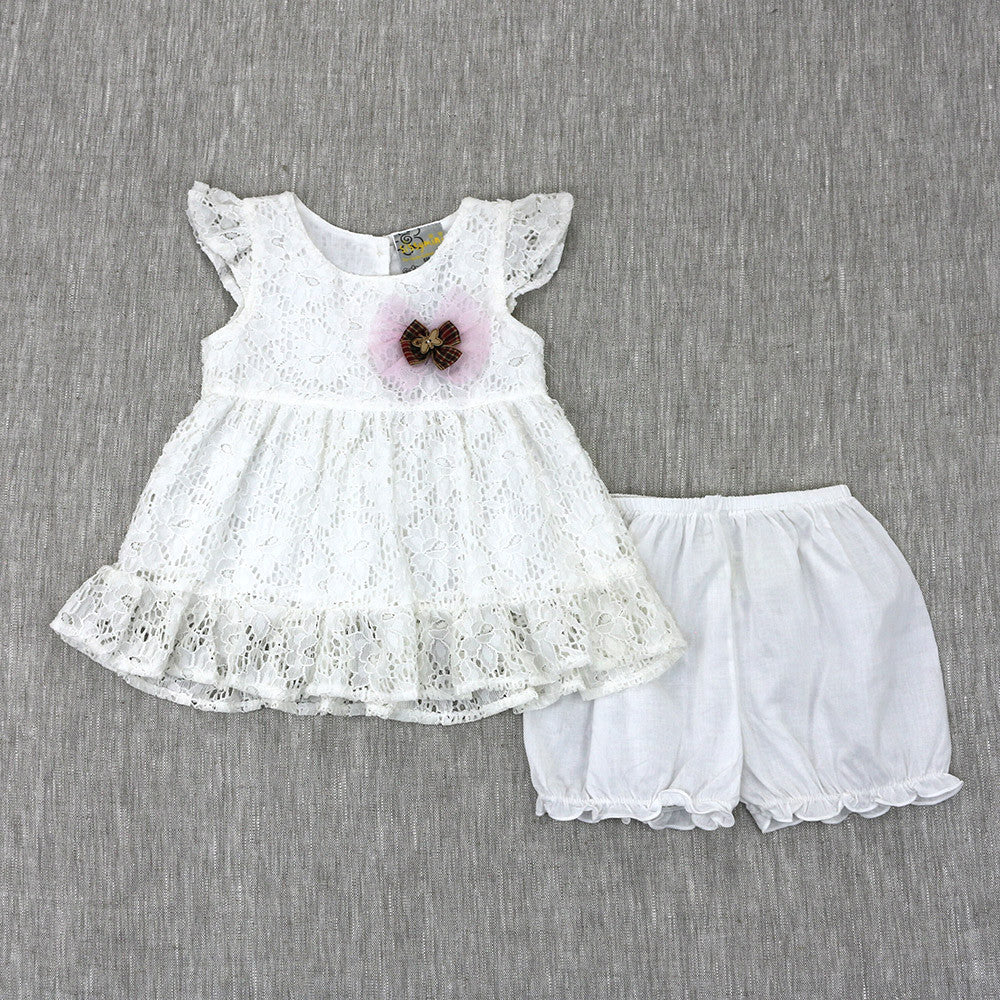 SEEK AND YA SHALL FIND DRESS- SOFT WHITE