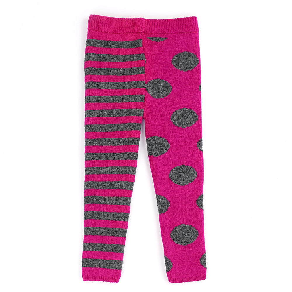 KELLY & KATIE DOTS- FUCHSIA & CHARCOAL