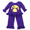 RUFFLE DOLL PLAYWEAR SET- PURPLE