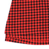 JUDY RUBY TAB-SLEEVE TUNIC- LUMBERJACK RED PLAID