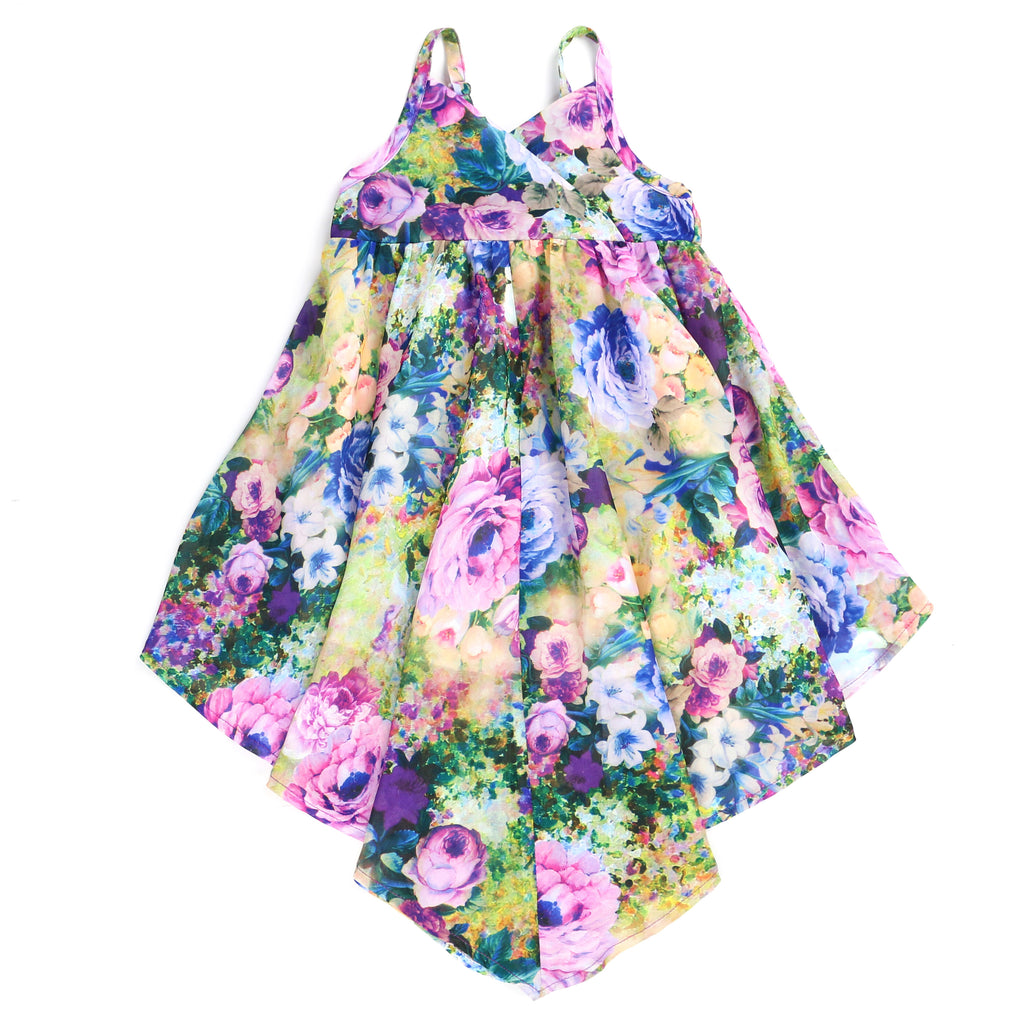 ROSES-ARE VIOLETS HANDKERCHIEF DRESS