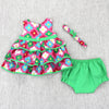 DAY OUT BABY SET- GREEN FLORAL