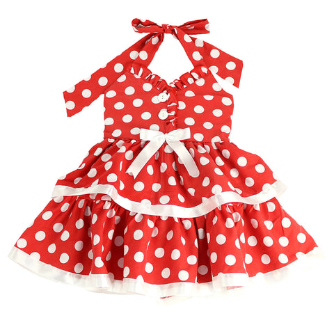 ROCKABILLY BUG  DRESS- RED POLKA DOT