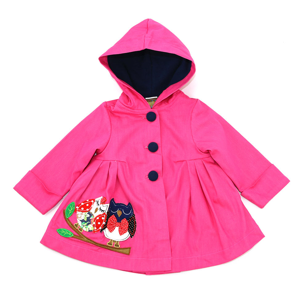 SWEET IN-LOVE OWLS JACKET- PINK