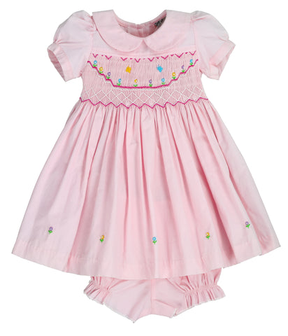 LIL SUNSHINE Smocking Dress - Heavenly Pink