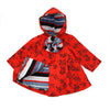 ROZALIE VINTAGE ROSES HOODED JACKET- RED