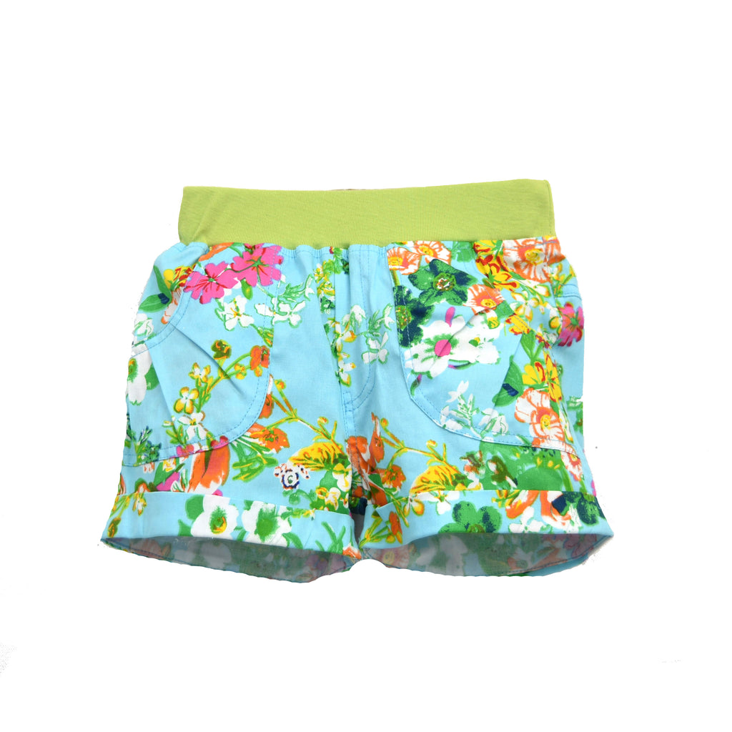 SANDS & BEACH SHORT- LIME FLORAL PRINT
