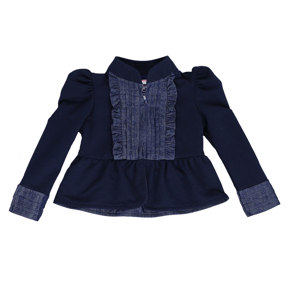 KISS OF JOY ZIP-UP JACKET- NAVY BLUE