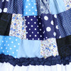 JOYOUS PATCHWORK JUMPER- BLUE