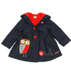 JAMIE'S OWL PATCHWORK JACKET- DENIM OVER RED
