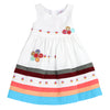YOUNG PRINCESS APPLIQUE DRESS-Daisy White