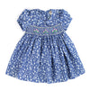 DEMI DAANE'S DENIM DASH HAND SMOCKED DRESS- Floral
