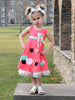 SNOW WHITE STORY DRESS- CORAL