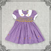 ELIZA BELLE GINGHAM SMOCKING DRESS- PURPLE