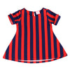 JOSIE STRIPE TUNIC- NAVY & RED
