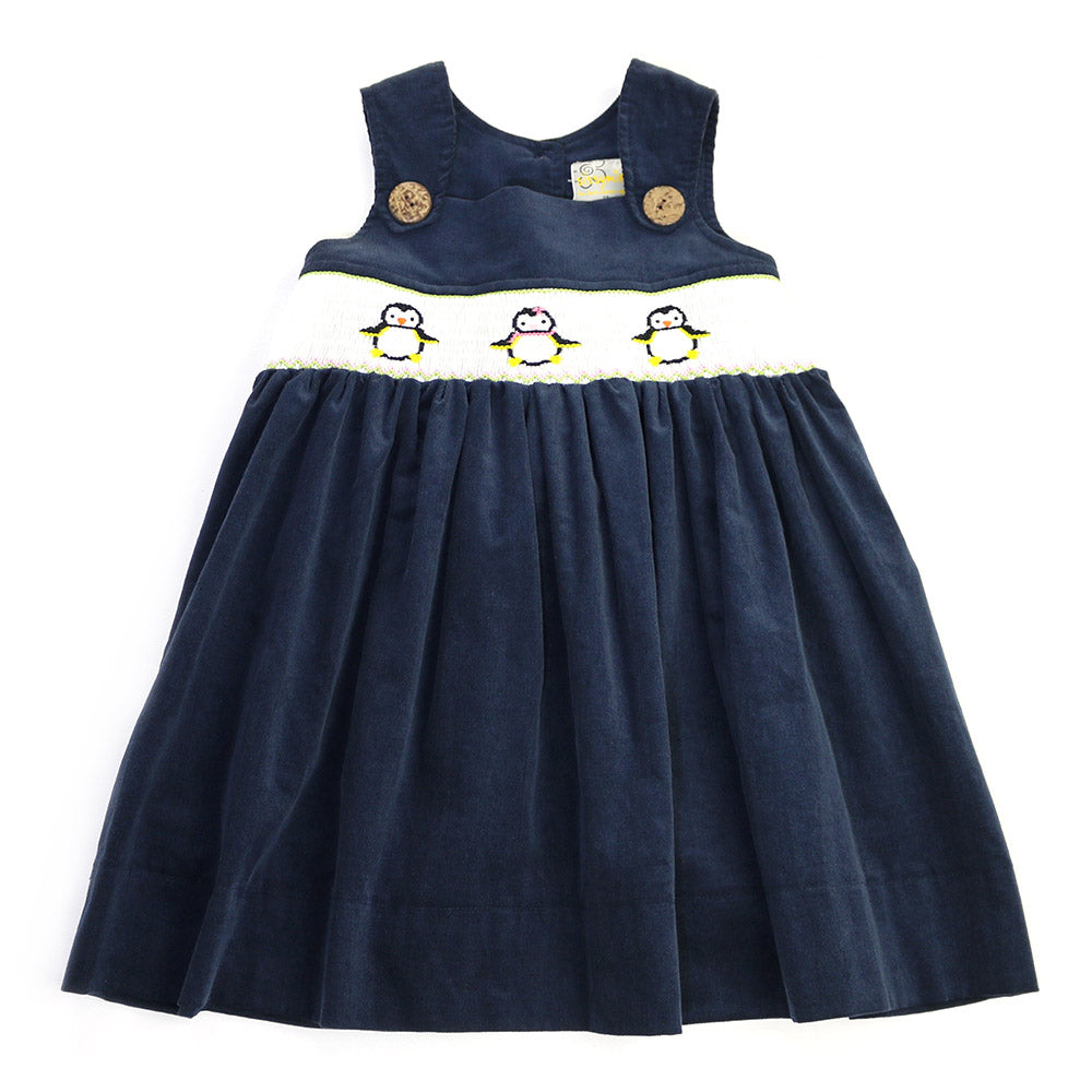 TINSEL JUMPER DRESS- NAVY