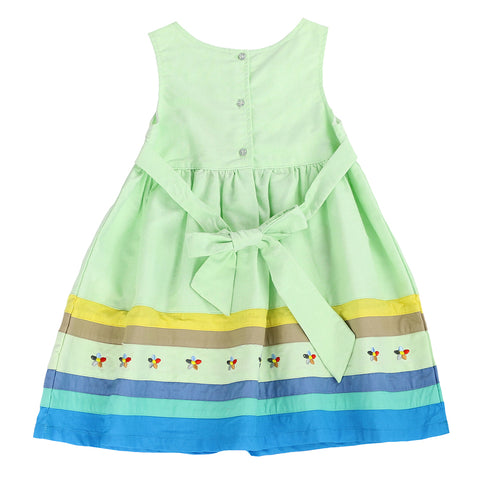 YOUNG PRINCESS APPLIQUE DRESS- Lime Green