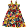 UNDER THE SUN DRESS- MUSTARD YELLOW VINTAGE FLORAL