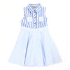 PACEY BLUE STRIPE SHIRT DRESS