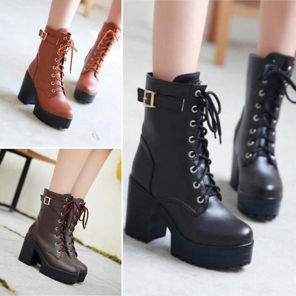 Fashion High-Heeled Boots Shoes AD10255