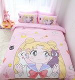 Pink Sailor Moon Bed Sheet Set AD10422