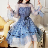 5 Colors Fairy Paillette Lace Tulle Dress AD10418