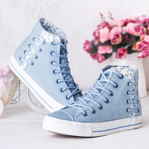 Cute Kawaii Floral Canvas Sneakers AD0239