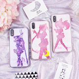 Sailor Moon Liquid Glitter Stars Phone Case AD11578