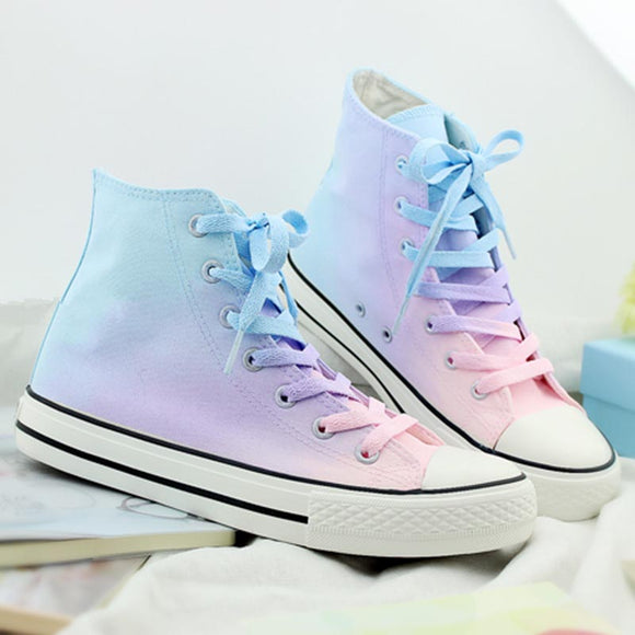 Harajuku Galaxy Gradient Hand-painted Canvas Shoes AD0170