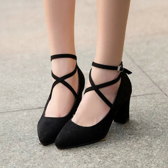 Black/Grey Heels Shoes AD0025