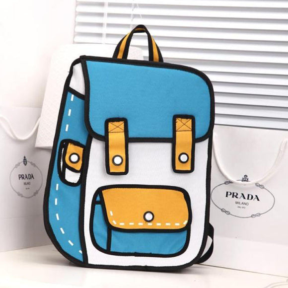 Cartoons 3D Canvas Backpack AD00281