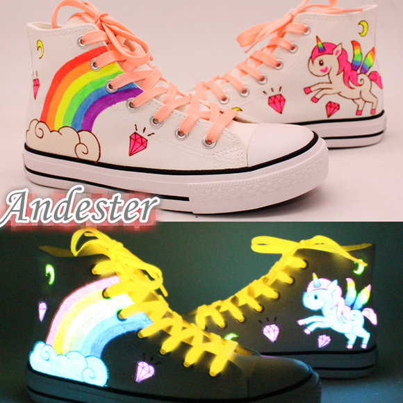 Luminous Hand-painted Canvas Shoes AD11705