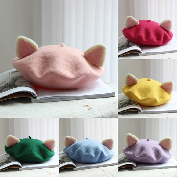 Sweet Cat Ear Beret AD0275