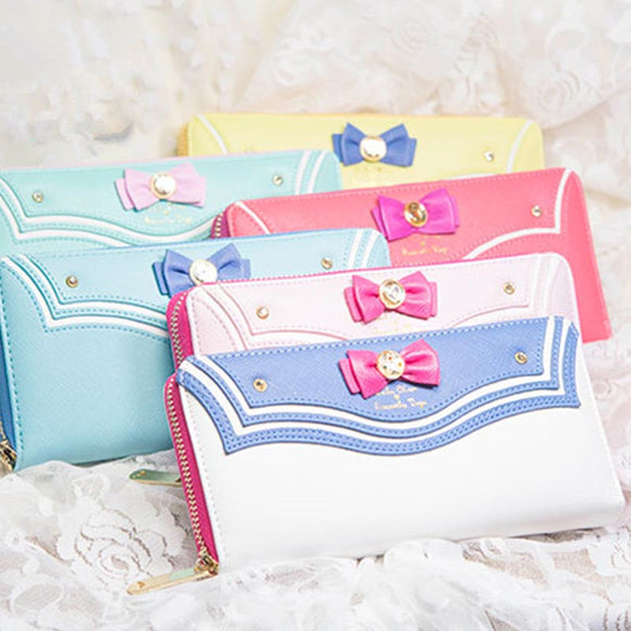 Sailor Moon Bowknot Zipper Wallet AD0092