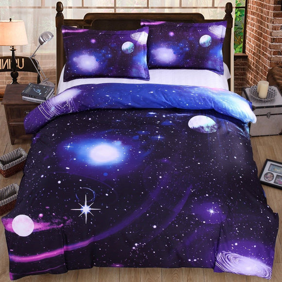 Harajuku Galaxy Bed Sheet Bedding 4 Pieces AD10200