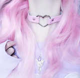 Harajuku Punk Heart Necklace AD10122