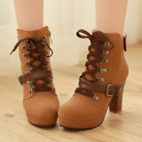 Women Pointed High-Heeled Martin Boots AD10242