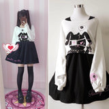Cute Kawaii Bunny Two-Piece Dress AD10017
