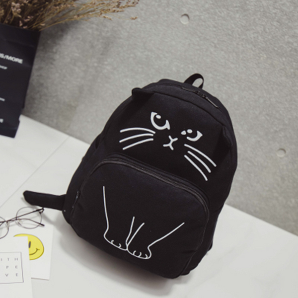Cute Kawaii Cat Canvas Backpack AD0027
