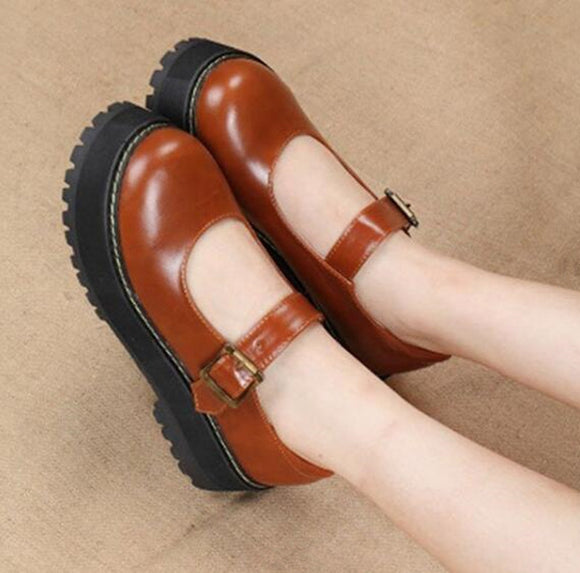 Retro Lolita Platform Shoes AD12029