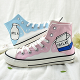 Bicolor Milk Hand-painted Shoes AD11023