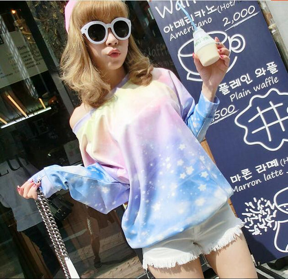 Harajuku Galaxy Fleece Pullover AD10165