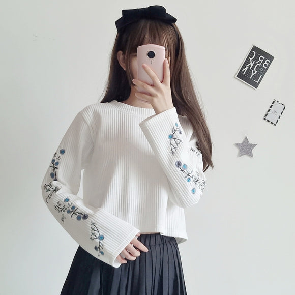 Sweet Embroidered Sweater AD11485