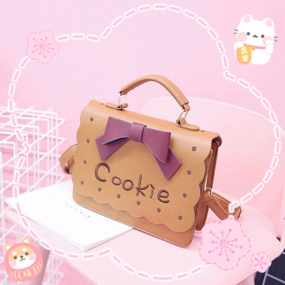Pink/Brown Bowknot Embroidery Bag AD10956